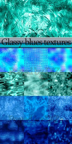 Glassy blues textures
