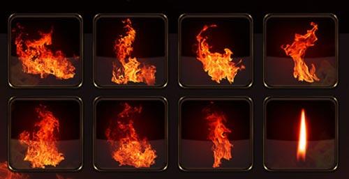 Как сделать эффект пламени