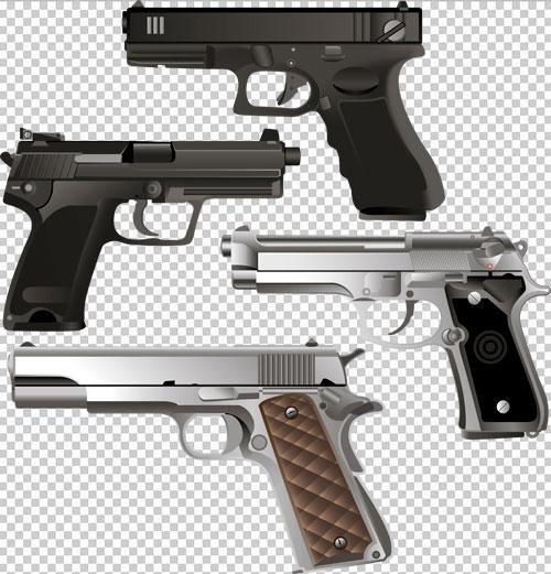 Клипарт пистолеты на прозрачном фоне