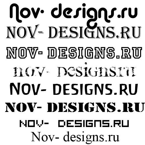 Шрифты рукописные и декоративные