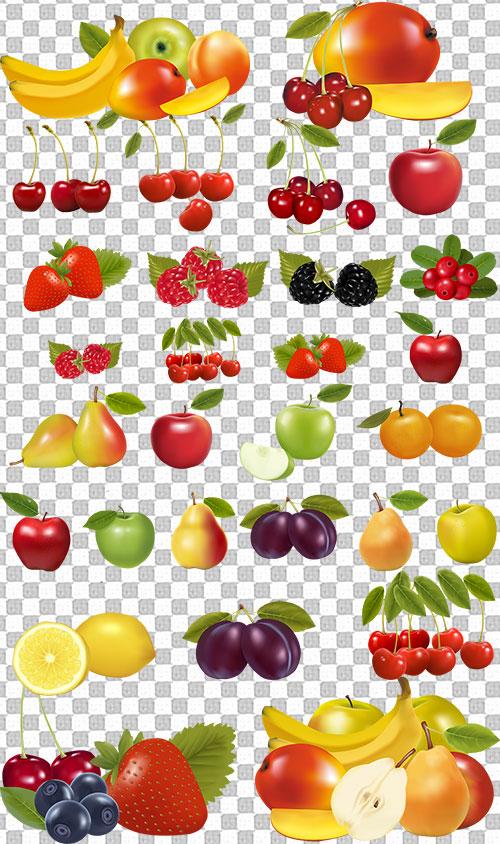 Клипарт - Ягоды и фрукты на прозрачном ...: nov-designs.ru/cliparts-for-photoshop/cliparts-psd-png-for...