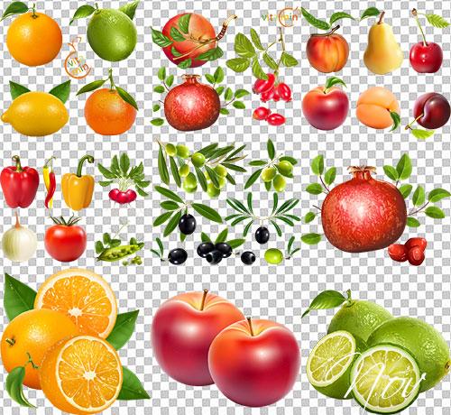 картинки фрукты на прозрачном фоне